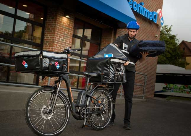 Domino's Partners With Rad To Start E-Bike Delivery Service