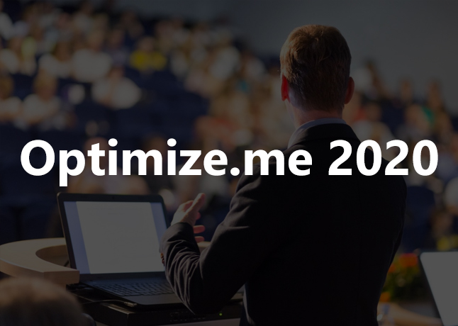 Attend Optimize.me 2020 Event Channelized By 101 Luminaires