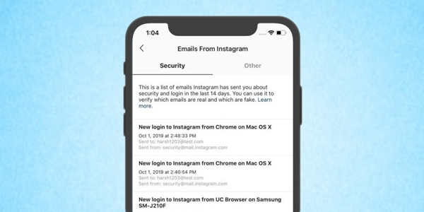 Instagram Introduces New Feature To Spot Phishing Mails