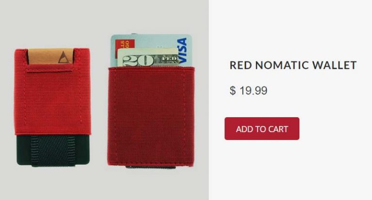 red nomatic wallet